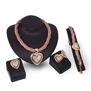 Damskie Zestawy biżuterii Rhinestone Kryształ górski Nylon Stop Serce Spersonalizowane euroamerykańskiej Modny Impreza Gratulacje