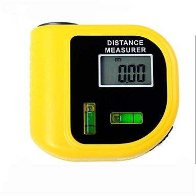 laser de metro de distância testador eletrônico com tela digital de LCD (intervalo: 2 ~ 60 pés, + / - 5%)