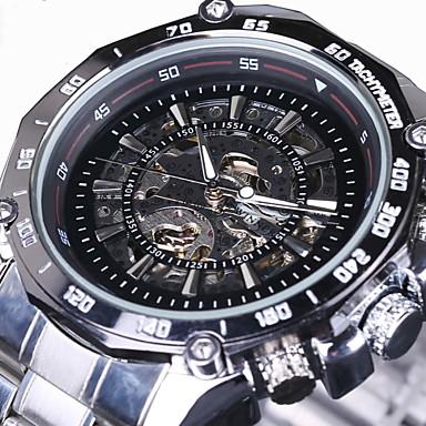 3a5f8c3d71e WINNER Homens Relógio Esqueleto Relógio de Pulso relógio mecânico  Automático - da corda automáticamente Aço Inoxidável
