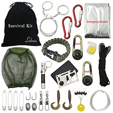 Iránytűk Piperetáska Csat egészségügyi csomag Tűz Starter Survival karkötő Túrázás Kemping Szabadtéri Tartós Sürgősségi Multi Function