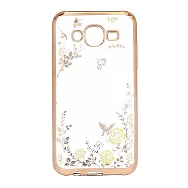Mert Samsung Galaxy tok Galvanizálás / Átlátszó Case Hátlap Case Virág TPU Samsung J5 (2016)