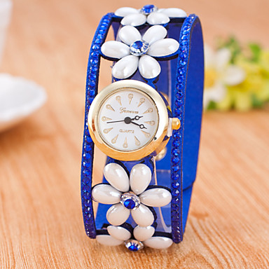 Bayanların Spor Saat Elbise Saat Moda Saat Bilek Saati Çince Quartz Deri Bant İhtişam Günlük Yaratıcı Çok-RenkliSiyah Mor Kırmzı Mavi