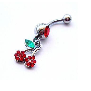 여성 바디 쥬얼리 Navel & Bell Button Rings 크리스탈 모조 다이아몬드 유니크 디자인 패션 보석류 무지개 보석류 일상 캐쥬얼 1PC