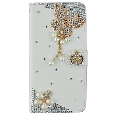 케이스 제품 iPhone 6 iPhone 6 Plus 지갑 카드 홀더 크리스탈 스탠드 플립 패턴 풀 바디 3D카툰 캐릭터 하드 인조 가죽 용 iPhone 6s Plus iPhone 6 Plus iPhone 6s 아이폰 6