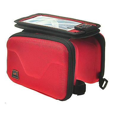 Kormánytáska Cell Phone Bag 5.7 hüvelyk Vízálló Vízálló cipzár Viselhető Érintőképernyő Kerékpározás mert Iphone X Samsung Galaxy S8 / S7