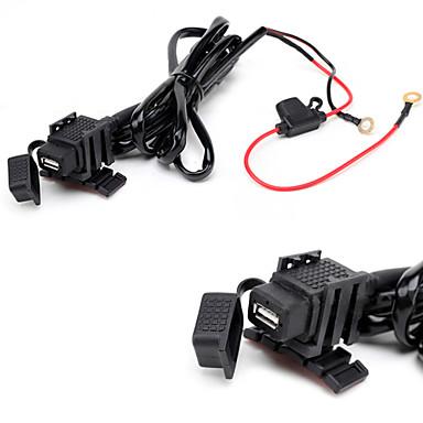 jtron vízálló autó USB telefon / navigáció autós töltő - fekete