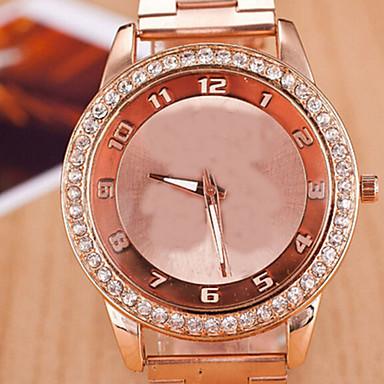 Női Divatos óra Szimulált Gyémánt Karóra Kvarc Alkalmi óra ötvözet Zenekar Ezüst Pink Sárga