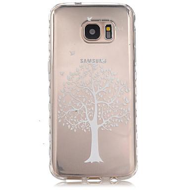 용 Samsung Galaxy S7 Edge 투명 / 패턴 케이스 뒷면 커버 케이스 나무 TPU Samsung S7 edge / S7
