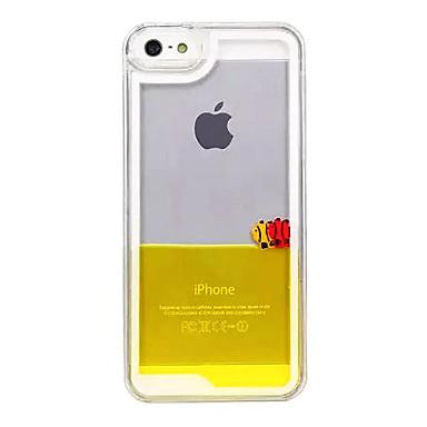 Pouzdro Uyumluluk iPhone 5 iPhone 5 Kılıf Akan Sıvı Şeffaf Arka Kapak Karton Sert PC için iPhone SE / 5s iPhone 5