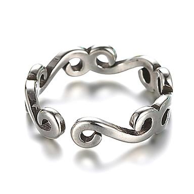 775e02183878 Mujer Anillo de banda Anillo Cuff envolver el anillo Plata de ley Plata  damas Inusual Diseño Único Vintage Anillos de Moda Joyas Plata Para ...