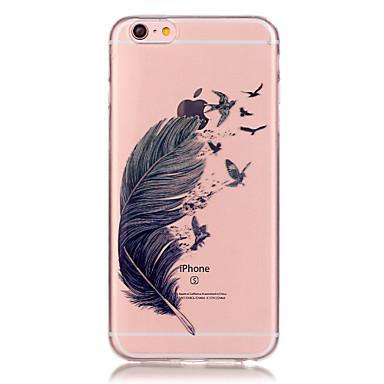 átlátszó színes toll mintás TPU puha tok telefon tok iPhone 6/6 plus / 6s / 6s plus