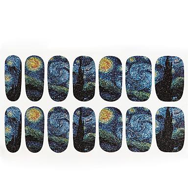 1db Van Gogh a csillagos ég köröm matricák 14 ragaszkodni minden kiküldött