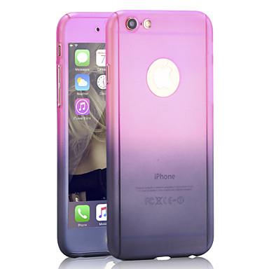 360 ° védő gradiens pc esetében üveg képernyővédő fólia iPhone 6 / 6s / 6 + / 6s plus (vegyes színek)