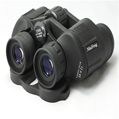 MaiFeng 12X45 쌍안경 고해상도 소형 일반적 사용 탐조(들새 관찰) BAK4 멀티 코팅 # 중심 초점