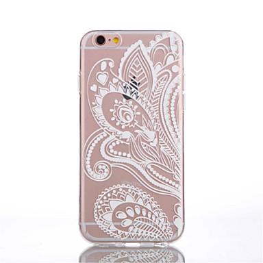 케이스 제품 iPhone 6 iPhone 6 Plus 투명 패턴 뒷면 커버 레이스 인쇄 소프트 TPU 용 iPhone 6s Plus iPhone 6 Plus iPhone 6s 아이폰 6
