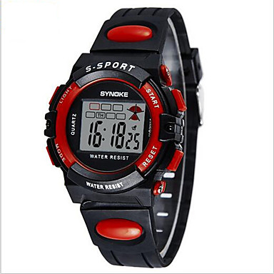 SYNOKE 디지털 디지털 시계 손목 시계 스포츠 시계 알람 달력 크로노그래프 방수 LCD 야광의 PU 밴드 멋진 블랙 블루 그린