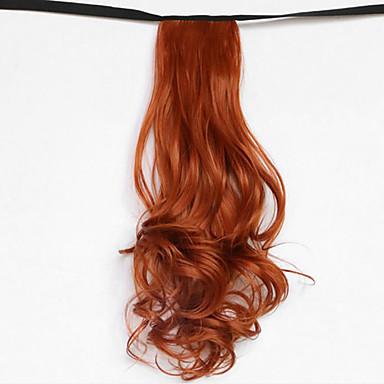 hullám piros szőke szintetikus kötszer típusát haj paróka lófarok (szín 119)