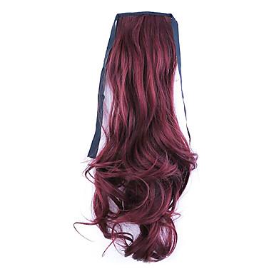 fekete hossz 50cm közvetlen gyári értékesítése kötődnek típusú göndör haj zsurló lófarok (színes 118)