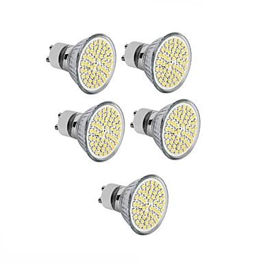 5pcs 3.5 W 300-350 lm GU10 / GU5.3(MR16) / E26 / E27 LED 스팟 조명 MR16 60 LED 비즈 SMD 2835 장식 따뜻한 화이트 / 차가운 화이트 220-240 V / 12 V / 110-130 V