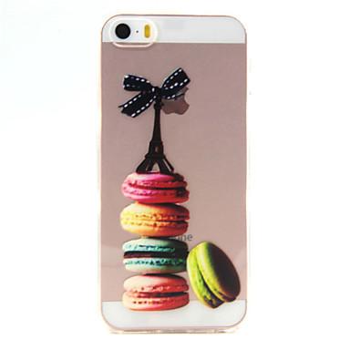 Case Kompatibilitás iPhone SE/5s/5 Apple iPhone 5 tok Ultra-vékeny Átlátszó Minta Hátlap Eiffel torony Puha TPU mert iPhone SE/5s iPhone 5