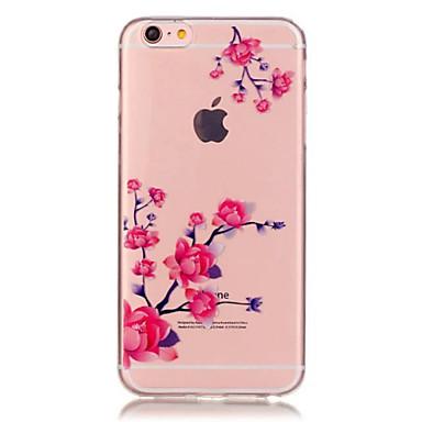 케이스 제품 Apple iPhone 6 iPhone 6 Plus 투명 패턴 뒷면 커버 꽃장식 소프트 TPU 용 iPhone 6s Plus iPhone 6s iPhone 6 Plus iPhone 6