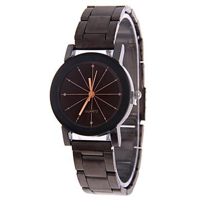 남성용 패션 시계 석영 캐쥬얼 시계 스테인레스 스틸 밴드 블랙 실버