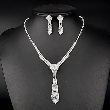 여성용 라인석 신부 라인석 목걸이 귀걸이 제품 결혼식 파티 특별한 때 생일 결혼 선물