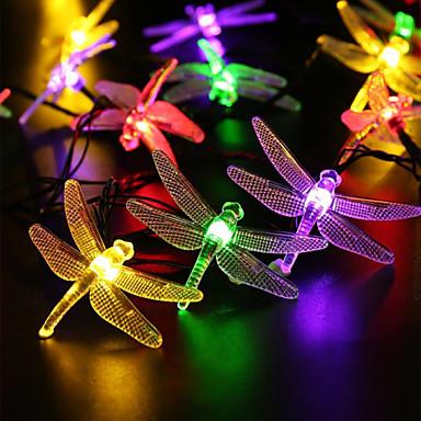 스트링 조명 AC100-240 5m 20 LED가 웜 화이트 화이트 레드 블루 그린 퍼플 핑크
