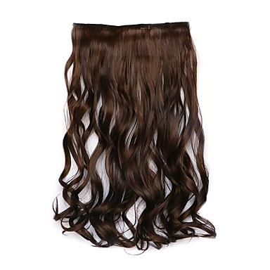 borwn hossza 60cm szintetikus göndör haj kevert színű paróka (szín 4a / 30b)