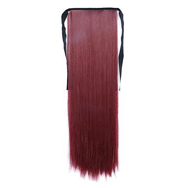 piros hossza 60cm szintetikus kötődnek típusú hosszú egyenes haj paróka zsurló (színes bug)