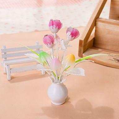 kreatív változtatható színű rózsaszín virág fényérzékelő éjszakai fény