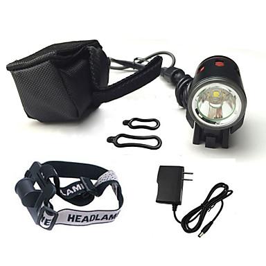 헤드램프 자전거 라이트 자전거 전조등 LED Cree XM-L T6 싸이클링 충격 방지 충전식 방수 18650 1200 루멘 배터리 캠핑/등산/동굴탐험 일상용 사이클링-XIE SHENG®
