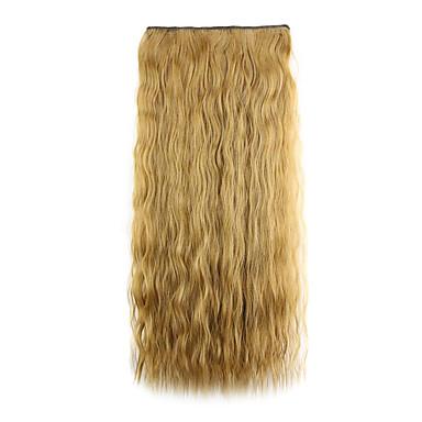 갈색 길이 60cm의 합성 유럽과 미국 칩 다섯 핫 스타일의 클립 (색상 6A)