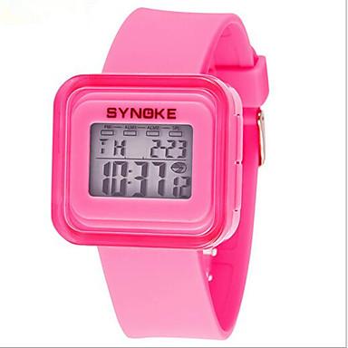 SYNOKE 아동 손목 시계 디지털 시계 스포츠 시계 디지털 알람 달력 크로노그래프 방수 야광의 LCD 고무 밴드 블루 핑크 노란색