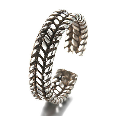 Men's Women's Band Rings Vintage Party Fashion Adjustable Sterling Silver Silver Jewelry Daily Casual