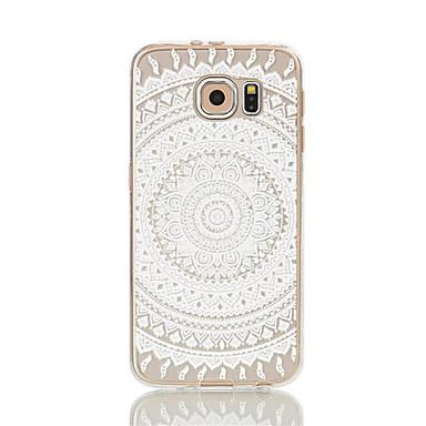 용 Samsung Galaxy S7 Edge 투명 / 패턴 케이스 뒷면 커버 케이스 레이스 디자인 소프트 TPU S7 edge / S7 / S6 edge / S6