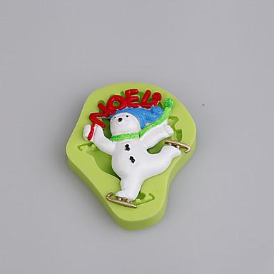 베이킹 몰드 만화 모양 초콜렛 파이 쿠키 케이크 실리콘 환경친화적인 DIY 크리스마스