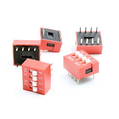 diy 4-helyzetben 8 tűs 2.54mm pitch dip kapcsolók (5piece csomag)