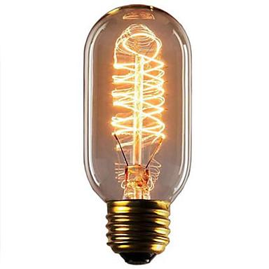 1pc 40W E26 / E27 T45 Warm White 2300k Retro Dimmable Decorative Incandescent Vintage Edison Light Bulb 220-240V