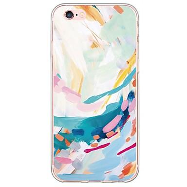 voordelige iPhone 5 hoesjes-hoesje Voor Apple iPhone X / iPhone 8 Plus / iPhone 8 Ultradun / Doorzichtig Achterkant Landschap Zacht TPU