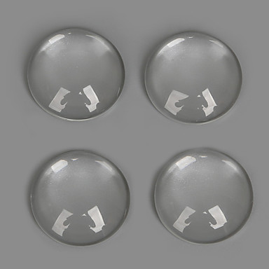 Amulettek üveg / Plastic Round Shape átlátszó 30Pcs