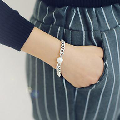 Női Lánc & láncszem karkötők Silver Bracelets Vintage Gyöngy Ötvözet Ékszerek Napi Hétköznapi Jelmez ékszerek
