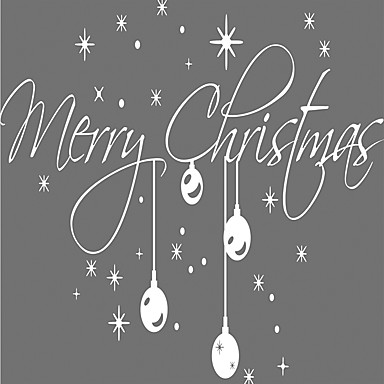 Karácsony Ünneő Mondások & Idézetek Falimatrica Repülőgép matricák Dekoratív falmatricák, Vinil lakberendezési fali matrica Fal