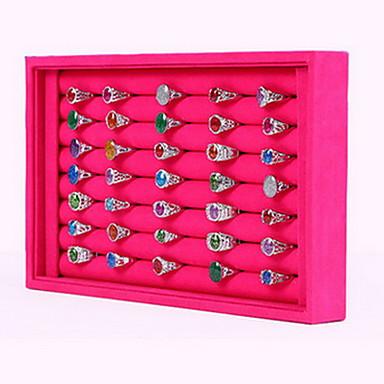 Недорогие Другие украшения-Квадратный Коробки для бижутерии / Подставки для бижутерии - Мода Розоватый, Черный и белый 23 cm 14.5 cm / Жен.