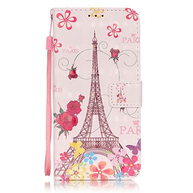 Mert Samsung Galaxy S7 Edge Pénztárca / Kártyatartó / Állvánnyal / Flip / Minta Case Teljes védelem Case Eiffel torony Puha Műbőr Samsung