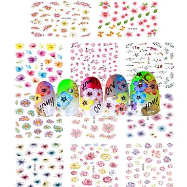 1 아트 스티커 네일 물 이동 스티커 풀 네일팁 꽃 추상화 카툰 러블리 웨딩 메이크업 화장품 아트 디자인 네일