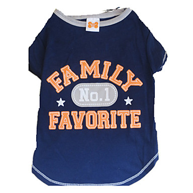 cheap Dog Clothing & Accessories-Dog Shirt / T-Shirt Dog Clothes Stars Letter & Number White / Blue Cotton Costume For Summer