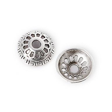 beadia 36pcs antik ezüst ötvözet gyöngy 9x3mm virág távtartó gyöngyök& gyöngyök sapka