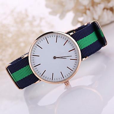 남성용 드레스 시계 석영 캐쥬얼 시계 섬유 밴드 블랙 화이트 블루 레드