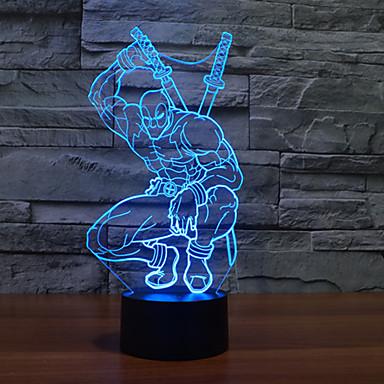 1db 3 d led színes látás lámpa ajándék légkör asztali lámpa színe megváltozik éjszakai fény